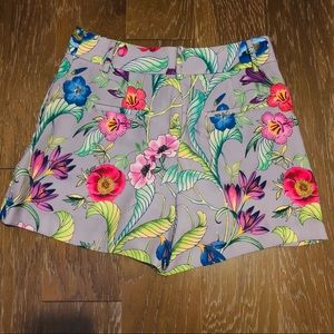 Ann Taylor Floral High-Waisted Shorts
